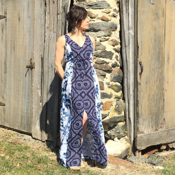 6b185ce4566 NEW! Sanctuary maxi dress batik tie dye drawstring